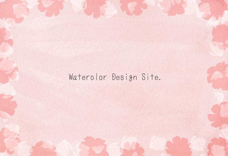 シンプル水彩背景コスモスフレーム