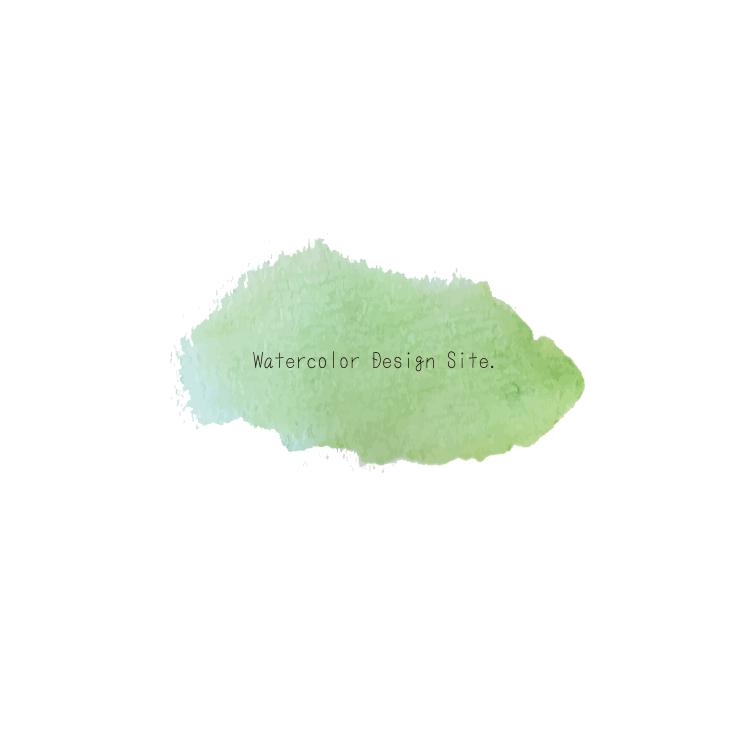 水彩背景フリー素材・グリーン