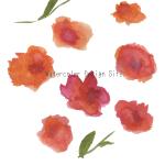 水彩ベクター素材:大きな花