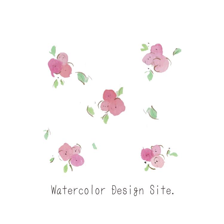 水彩ピンク小花ベクターパーツ