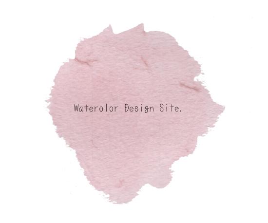 水彩ピンク背景パーツフリー素材