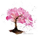水彩で描いた桜ベクター素材