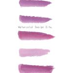 水彩透明ピンク下線5点セット