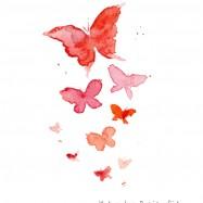 赤い蝶イラスト