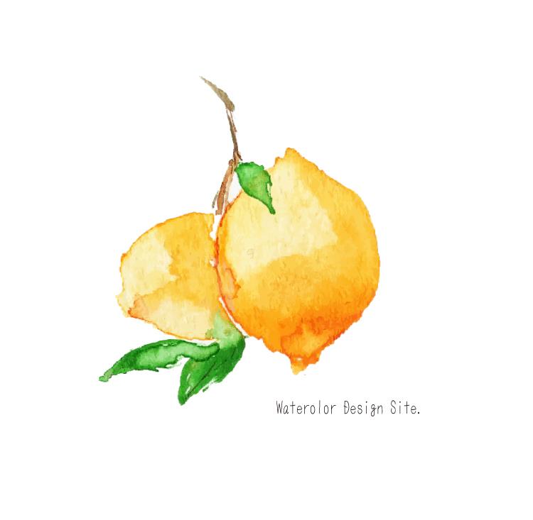 水彩イラストフリー素材・レモン