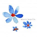 青い花パーツ