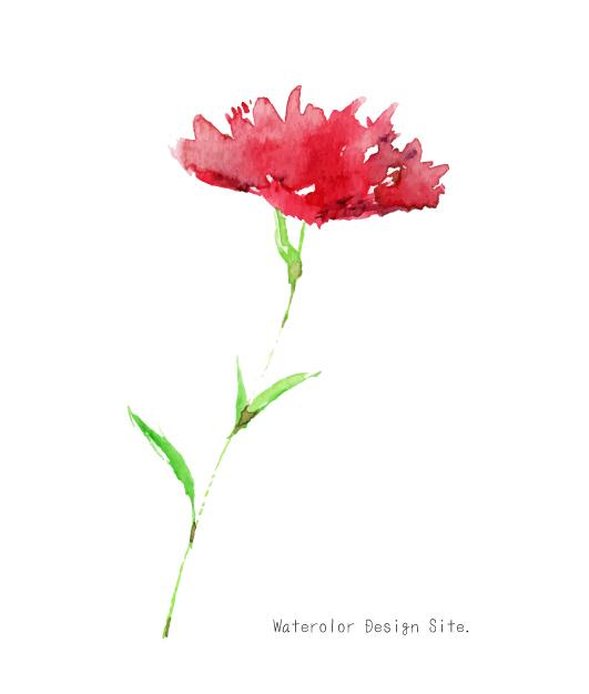 赤い花ベクター素材