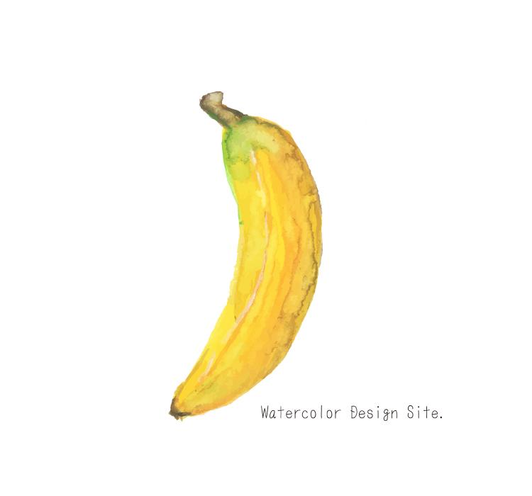 果物水彩イラスト・バナナ