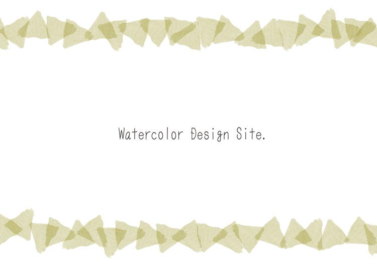三角水彩フレームフリー素材