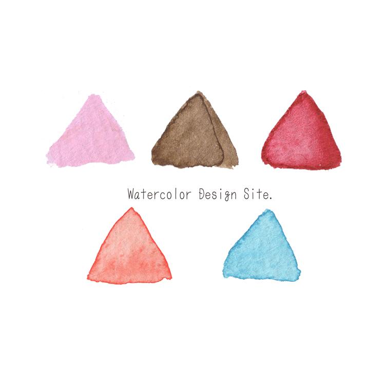 水彩三角パーツ