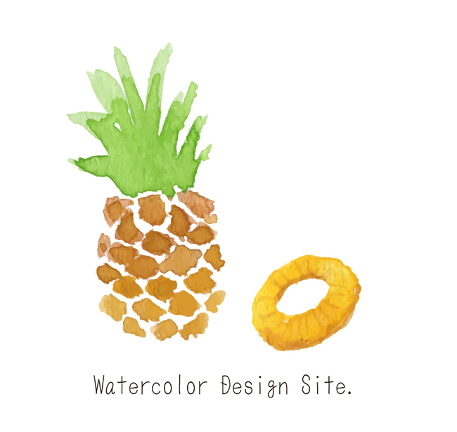 パイナップル Watercolor Design Site