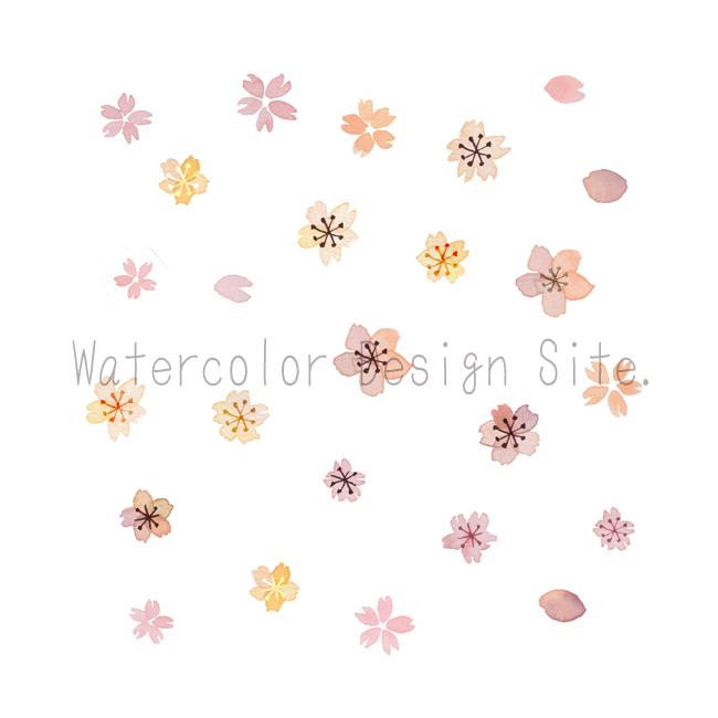 水彩桜イラストパーツ