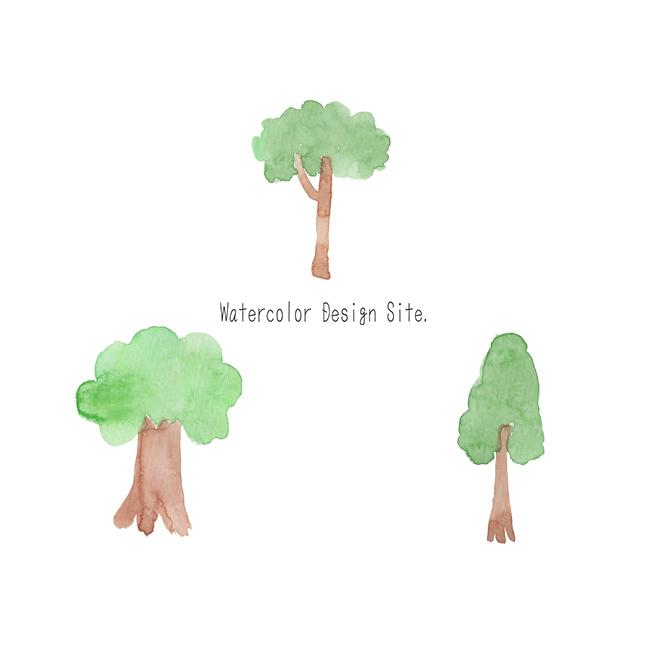 手描き木イラスト