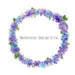 紫陽花ラウンドフレーム