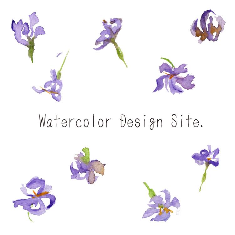 ドライフラワーパープル Watercolor Design Site