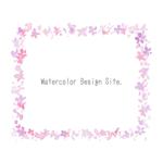 水彩ピンク小花フレーム